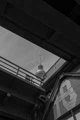 Fernsehturm Berlin (tcmappes) Tags: berlin city urban tower blackandwhite bw niceshot