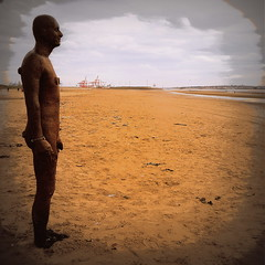 On the beach (perseverando) Tags: anotherplace antonygormley crosby liverpool beach installation sculpture perseverando