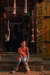 Music store (Ivo De Decker back from holiday) Tags: kid bakhtapur nepal nepali streetlife streetphotography ivodedecker musicinstruments
