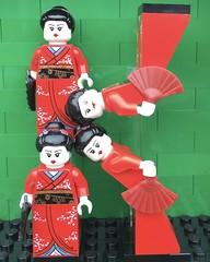 K (Laurene J.) Tags: lego bricksbythebay bbtb2016 minifigurealphabet minifigure minifigs legoalphabet alphabet pilobolusalphabet pilobolus lettering bbtb 2016 bricksofcharacter kimono geisha