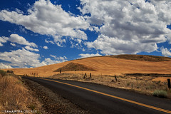 Paved Road on the Prairie (Samantha Decker) Tags: canonef24105mmf4lisusm canoneos6d or oregon pnw pacificnorthwest samanthadecker thedalles prairie dufur