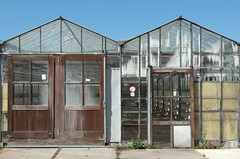What's left of it (mennomenno.) Tags: kassen greenhouse bleiswijk oud old empty bluesky blauwelucht thenetherlands