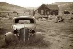bodie ghost town, 1937 chevy coupe (Karol Franks) Tags: bodie historical ghost town oldwest california goldrush abandoned mining mill gold state park car coupe chevrolet rusty vintage ghostcar decay old classic chevy driven