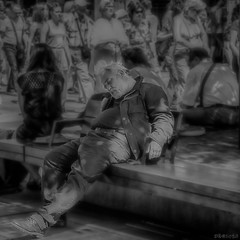 """Oblivious"" (_jerseyguy_) Tags: man people portrait streetportrait street streetphotography blackandwhite blackwhite mono monochrome austria sterreich vienna wien canon powershot sx60hs sx60 bridgecamera 2016 photoshop"