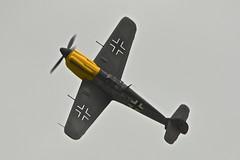 Flight 2, Hispano Buchon (Bf 109) Black 2, Wings and Wheels, 2016 (Peter Cook UK) Tags: 2 109 bf black buchon ha1112 hispano messerchmitt
