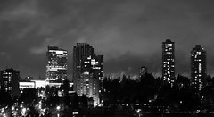 BW Foggy Night Long Exposure 02 (richardjack57) Tags: surrey britishcolumbia lowermainland longexposure blackandwhite cityscapes surreycentral canon canoneos6d canonzoom24105mm