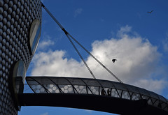 Into the Abyss (Vide Cor Meum Images) Tags: mac010665yahoocouk markcoleman markandrewcoleman videcormeumimages vide cor meum nikon d750 birmingham selfridges shopping iconic bridge suspended city england english birds silver walkway