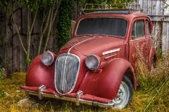 My taylor is not rich ! (Denis Vandewalle) Tags: abandonned car voiture hdr old smileonsunday