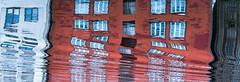 breaking the patterns (krøllx) Tags: bakklandet midtnorge nidelva norway sørtrøndelag trondheim trøndelag akamphotowalk buildings city colorful colors europa europe gamlebybro lines midtbyen norge oldwarehouses reflections rivernidelva scandinavia skandinavia water windows 20160903dsc01964201609031