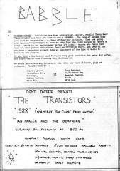 Babble (stillunusual) Tags: dontdictate fanzine musicfanzine punkfanzine punkzine indiefanzine postpunk indie 1980s 1980