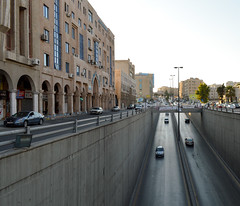 Underpass (Francisco Anzola) Tags: amman jordan city afternoon traffic rushhour cars buildings tunnel
