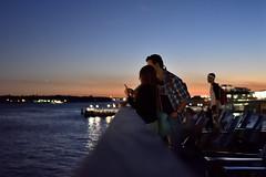 Couple at Sunset (maui photographer) Tags: couple sunset nyc newyork new york marques baclig mauiphotographer manhattan south street seaport photography streetphotography color colors people candid nikonproject366 nikon d3300 dslr