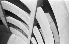 geometric (bergytone) Tags: bw analog film olympus om om2n kentmere 100 xtol kalamazoo mi parking garage geometric arc arcs