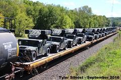 1/2 Military Vehicles 9-17-16 (KansasScanner) Tags: shawnee zarah kansas bnsf railroad train