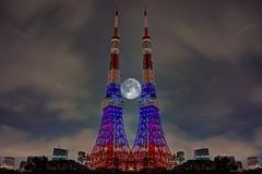 Battle Of The Cities Tokyo Tower Tokyo Night Night Lights Night View Illuminated Illumination Multiple Exposures at Tokyo Tower () (rapisu) Tags: battleofthecities tokyotower tokyonight nightlights nightview illuminated illumination multipleexposures