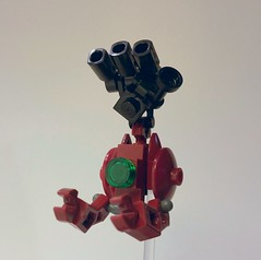Crimson Meteorite (The Hydromancer) Tags: lego gundam char ball gm mobile frame zero rapid attack chubdam chub zeon