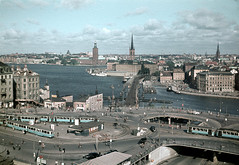 Slussen area in Stockholm, Sdermanland (micebook) Tags: stockholm sweden sky water lake river trees bridge city waterfall feature snow hall town roads fountain nature beauty ar architecture tourism