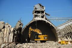 "Demolition job ""Potash"" warehouses DST_5431 (larry_antwerp) Tags: euroports potas magazijn warehouse demolition afbraak antwerp antwerpen       port        belgium belgi          aertssen caterpillar excavator"