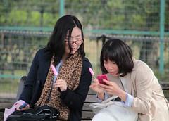 Lollipop Girls (Toni Kaarttinen) Tags: japan  japonia    jap japonsko jaapan  japani japon xapn    japn jepang an tseapin giappone  japna japonija  japo  japonska japn hapon  japonya nht bn japanese kawasaki spring daishi park daishipark woman women lollipop penis mobile