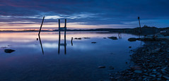 The end of a day (Per-Karlsson) Tags: explore inexplore sea seascape water waterscape waterfront moorings old stillness tranquility reflection reflections bluehour blue coast sweden swedishwestcoast bohuslän bohuslan
