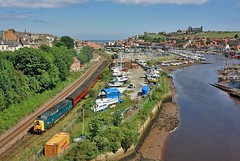 Whitby Deltic (SydPix) Tags: abbey river boats diesel harbour trains whitby locomotive railways boatyard esk deltic class55 royalscotsgrey 55022 sydyoung