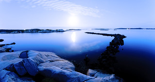 Moonlight in the Gothenburgian archipelago
