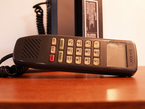 Complete Brick Phone 1985 Old School Mobile VINTAGE CELLULAR Bag Telephone Tandy circa Eighties / Aces Finds Vintage