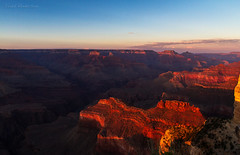 Grand Canyon, South Rim (Mwesigwa) Tags: sunset arizona landscape nationalpark dusk grandcanyon scenic grand landmark canyon coloradoriver gorge hopipoint