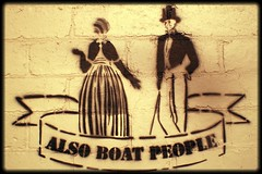 Also boat people! in St Kilda East - Balaclava (Melbourne Streets Avant-garde) Tags: street people urban art wall graffiti boat stencil refugees australia melbourne east human rights migration asylum balaclava stkilda seekers 2012 boatpeople migrants