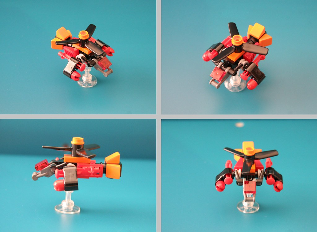 how to make a mini lego fighter jet