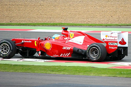 Ferrari's Fernando Alonso at Silverstone