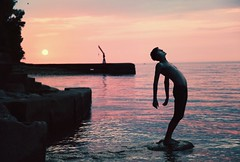 Leo. (| Jared Tyler) Tags: sunset jared lake water colors golden flickr leo teens eerie greatlakes tyler hour tumblr