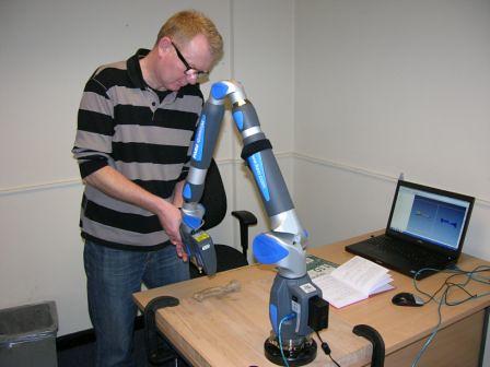 FARO Quantum laser arm in action