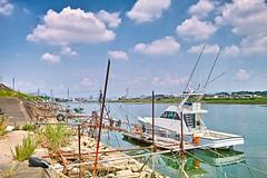 PhoTones Works #1653 (TAKUMA KIMURA) Tags: door sky nature japan river landscape boat sigma     kimura    takuma dp1    photones