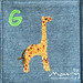 Soft book for George - g is for giraffe