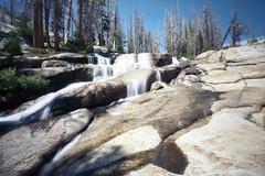 Pinscape in Yosemite (Josh Boes) Tags: longexposure film water waterfall rocks hiking pinhole backpacking yosemitenationalpark