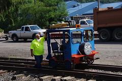 Headed To The Trailer - IMGP6481 (geepstir) Tags: car reading pennsylvania rail pa shamokin speeder sunbury narcoa