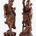 373. Two Wood Carved Oriental Figures