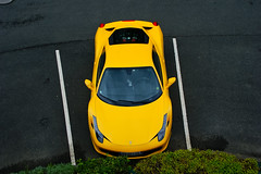Bird Eye View (2KP) Tags: auto france classic cars car yellow jaune italia ferrari giallo mans le autos supercar 2012 supercars sarthe 458