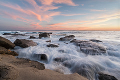 Aliso Beach - A little earlier... (CrapulePHL) Tags: california sunset sea beach water clouds canon sand rocks waves iso 100 usm laguna f80 3s efs 1022mm 10mm 1s aliso f3545