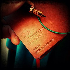 Most Beautiful Midori Yet! (spoedman) Tags: notebook square squareformat antwerpen stationary midori travelersnotebook spoedman christophelaurent notebookism iphoneography instagramapp uploaded:by=instagram christophelaurentinfo christophelaurentcom