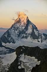Matterhorn (4478m) (sylweczka) Tags: summer snow mountains alps switzerland climb tour glacier zermatt matterhorn hochtour zinalrothorn sylweczka rothornhutte