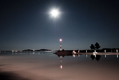 Badacsony at night (ruzsagabor) Tags: longexposure moon night este balaton hold badacsony