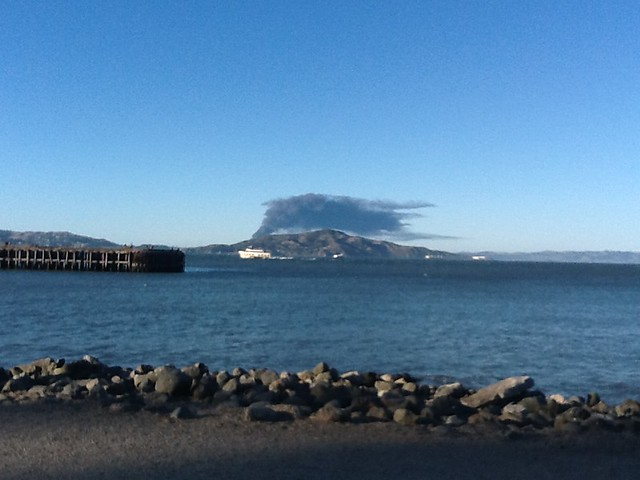 Chevron refinery fire seen from SF