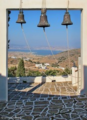 The three bells,Paros (amalia lam) Tags: blue sea vacation sky white colors bells canon photography landscapes holidays religion aegean churches hellas greece symbols greekislands paros cyclades nationalgeographic monasteries