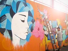 Maca - Com SWK e Smael (DianaCouto) Tags: brasil graffiti arte mulher diana cabelo 2012 maca couto