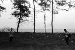 * (-nasruddinmukhtar-) Tags: blackandwhite bw beach monochrome analog 35mm seaside malaysia analogue 135 kelantan   selfdevelopment nikkor28mmf28 nikomatel r09 expired1996 fujifilmneopanpresto400 nasruddin nasruddinmukhtar