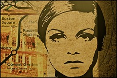 twiggy in toronto .... (ana_lee_smith) Tags: street uk portrait toronto london art english face underground poster lens photography pub mural downtown minolta image map supermodel photojournalism sigma style icon pop chain beercan yongestreet 1960s af iconic twiggy stations analeesmith 70210m sonyslta33 firkinonyonge