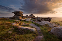 Over Owler Tor Summer Sunset (Paul Newcombe) Tags: uk sunset summer england flower english landscape photography countryside nationalpark rocks heather derbyshire peakdistrict sigma wideangle august flowering british peaks tor 1020 goldenhour warmlight gritstone sidelight owlertor overowlertor britnatparks