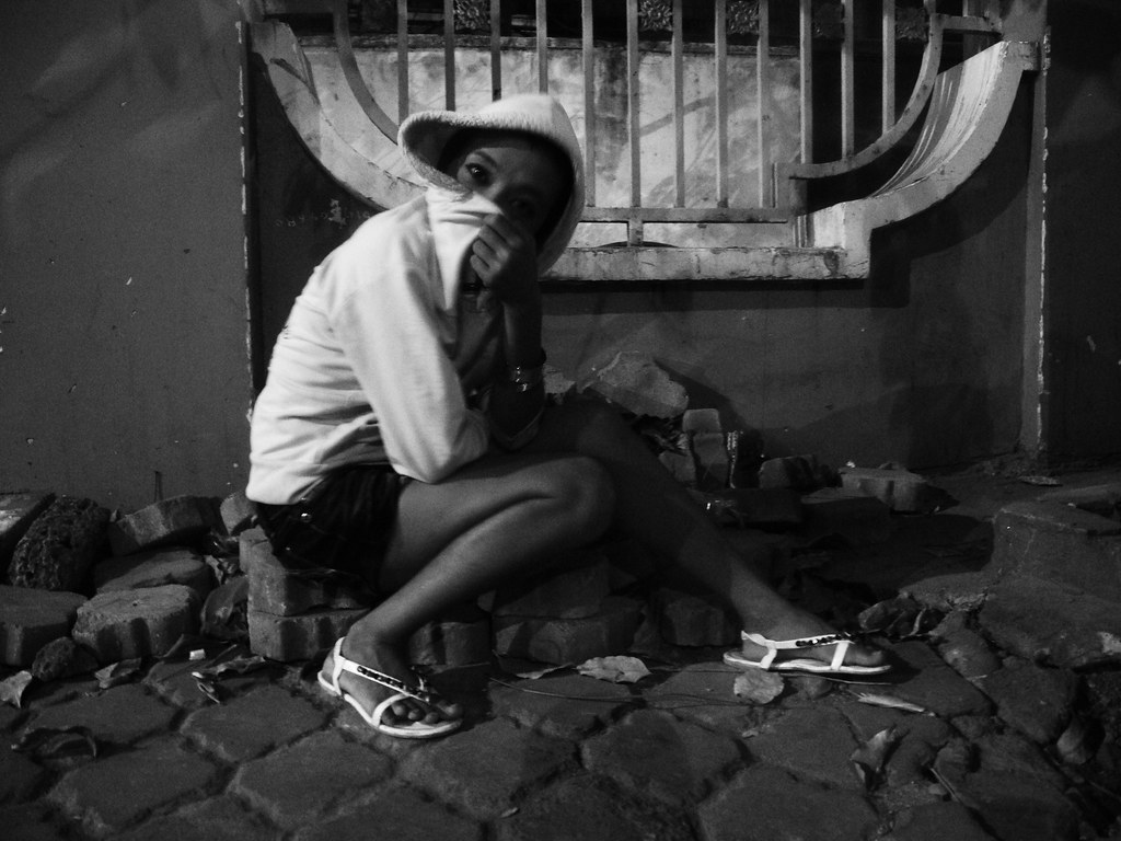 Sexy street worker commit error